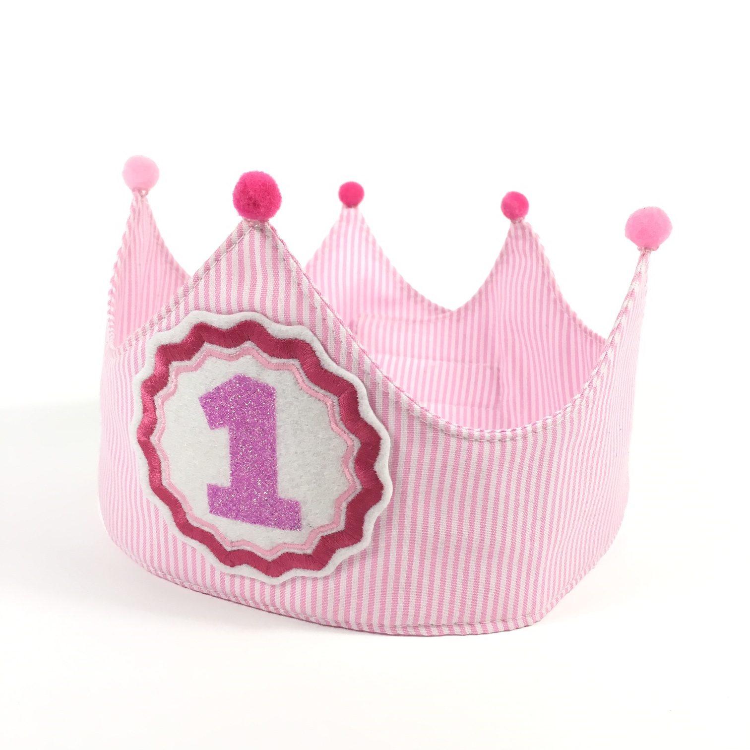 Corona cumpleaños tela