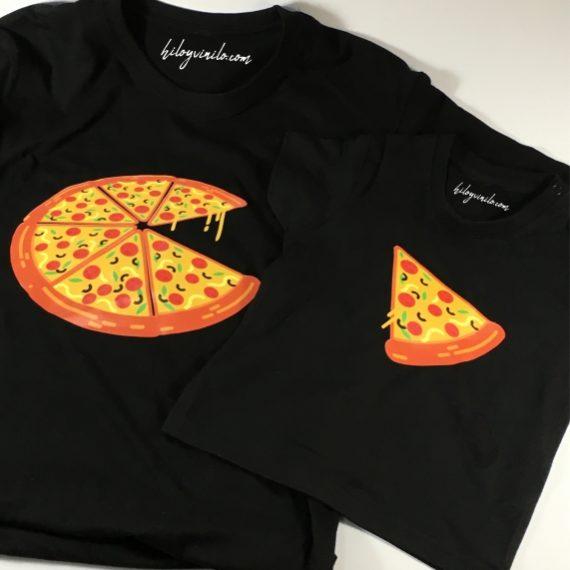Camiseta conjunto Mamá/Papá - hijo Pizza