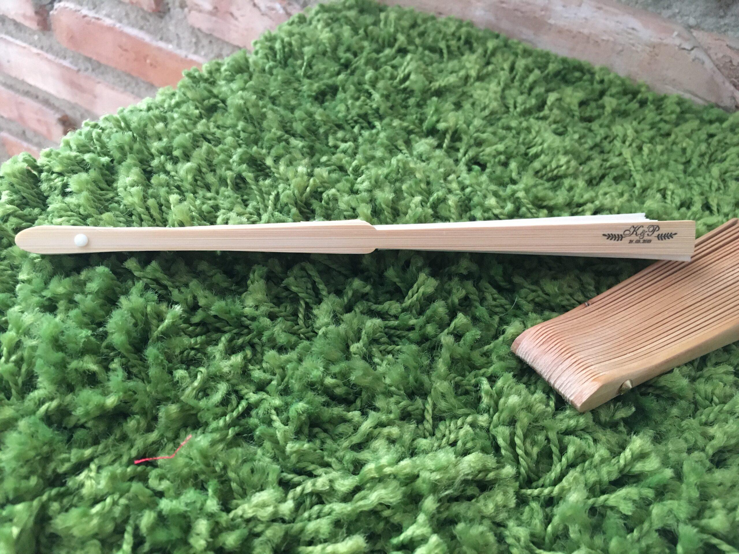 Abanico bambú personalizado
