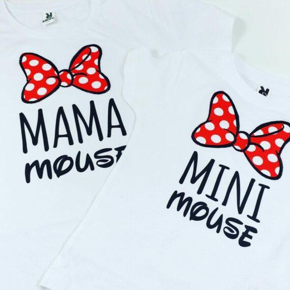 Camiseta Mamá mouse y mini mouse